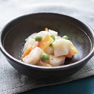貝柱と海老の山椒炒め