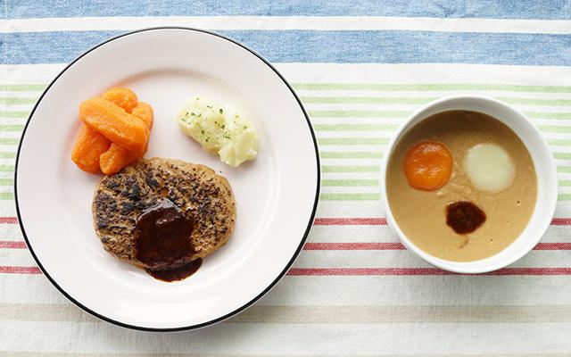 ミキサー食とえんげ食の完成比較イメージ